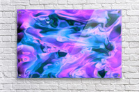 Purple Ice - purple blue abstract swirl wall art  Acrylic Print