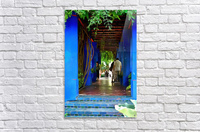 Shady Blue Walkway Marrakech  Acrylic Print