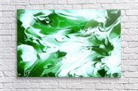 Clover - green white abstract swirl wall art  Acrylic Print