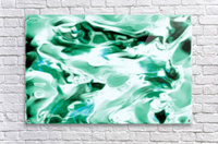 Icicles - turquoise white abstract swirls wall art  Acrylic Print