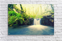 waterfall river nature forest   Acrylic Print