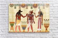 egyptian design man woman priest  Acrylic Print