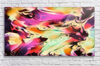 Rising Glow - multicolor swirls abstract wall art  Acrylic Print