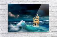 Hard way sailboat. sailing ship  Acrylic Print