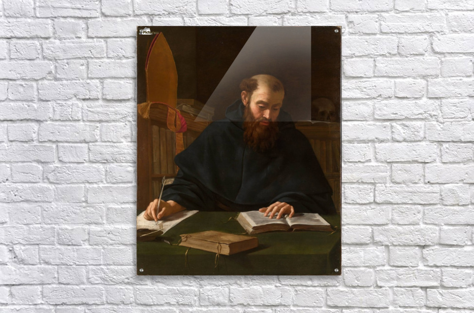 Saint Augustine in his study  Acrylic Print