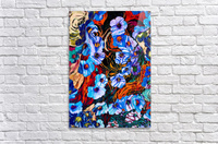 floral mottled indigo  Acrylic Print