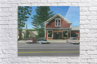 Church House and Store - Newtown Scenes 16X20  Acrylic Print