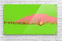 Lake Sunset - Green  Acrylic Print