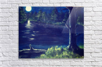 Peaceful Moonlit night  Acrylic Print