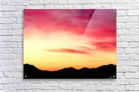 Colorful Dusk Mountain view  Acrylic Print