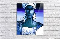 femme au turban bleu  Acrylic Print