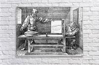 Man drawing a Lute  Acrylic Print