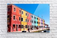 Colorful Venice Houses  Acrylic Print