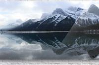 Canmore Winter Mountain Panorama  Acrylic Print