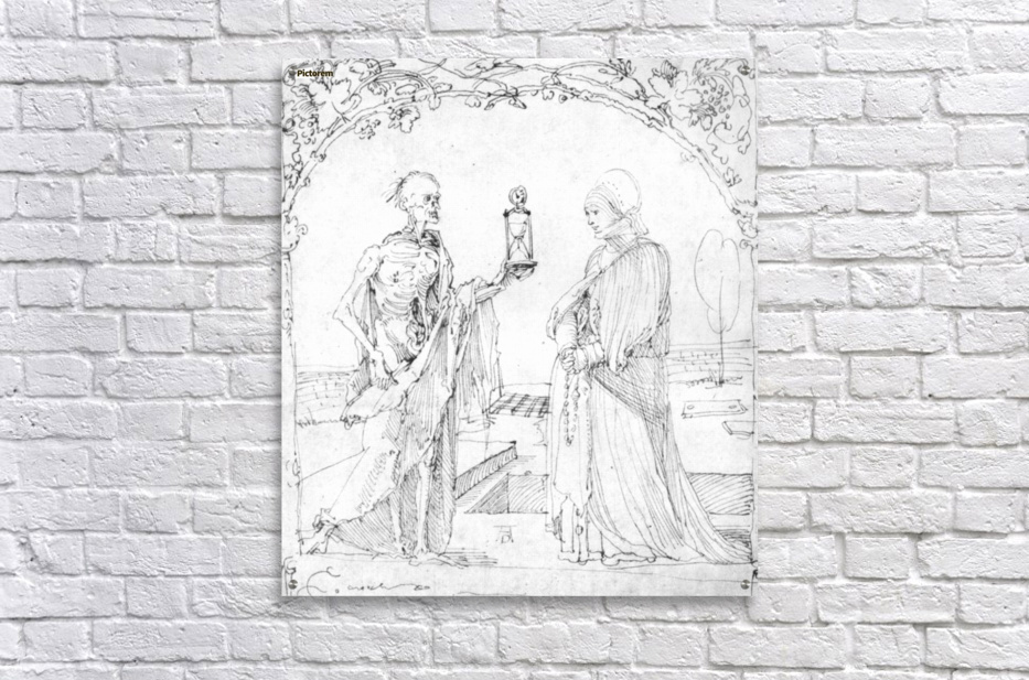 Death and wife  Acrylic Print