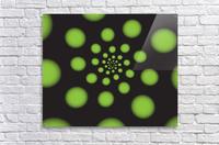Green Spiral Dots  Acrylic Print