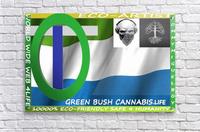 GREEN BUSH CANNABIS. LIFE  Acrylic Print