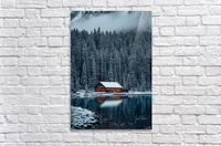 Lake Louise Cabin  Acrylic Print