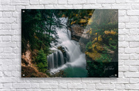 Johnson Canyon Trail Falls Long Exposure  Acrylic Print