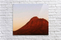 Red mountain side  Acrylic Print