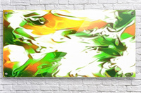 Legendary - green gold and white abstract swirls wall art  Acrylic Print
