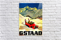 Vintage Travel - Gstaad  Acrylic Print