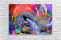Dolphin Color Splash  Acrylic Print