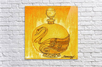 Bottled Gold Swan  Acrylic Print