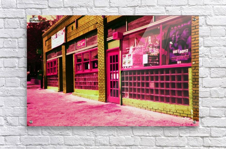 Atlanta Street Scene -- Red  Acrylic Print
