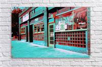 Atlanta Street Scene -- Turquoise  Acrylic Print