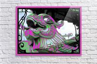 Carnival Creature in Purple & Green  Acrylic Print
