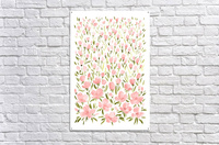 Field of pink watercolor flowers by blursbyai  Acrylic Print