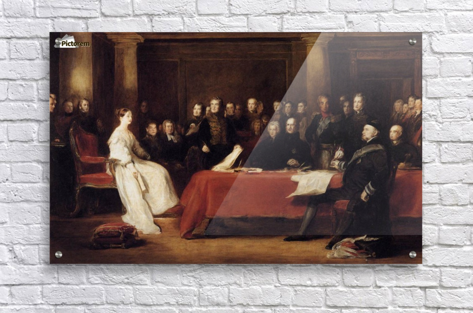 The First Council of Queen Victoria  Acrylic Print