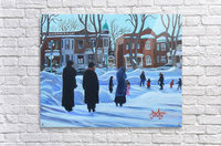 Outremont Park Skating Scene  Acrylic Print