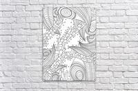 Wandering 10: black & white line art  Acrylic Print