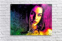 MultiColor Girl  Acrylic Print