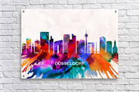 Dusseldorf Skyline  Acrylic Print