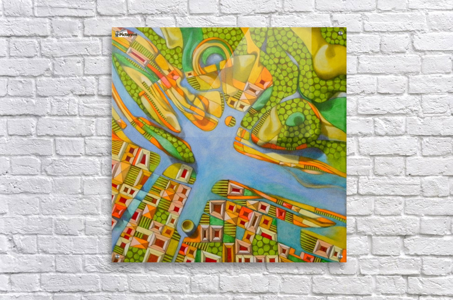 imaginary map of turin  Impression acrylique