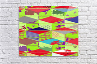 patchwork cubes by dePace  Acrylic Print