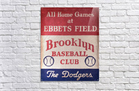1939 Brooklyn Dodgers  Acrylic Print