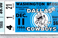 1966 Washington vs. Dallas  Acrylic Print