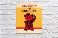 Vintage University of Cincinnati Art Reproduction  Acrylic Print