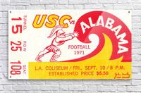 1971 Alabama vs. USC  Acrylic Print