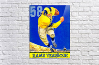 1958_National Football League_Los Angeles Rams_Yearbook_Row One  Acrylic Print