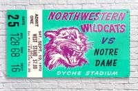 1970_College_Football_Notre Dame vs. Northwestern_Dyche Stadium_Evanston_Row One Brand  Acrylic Print