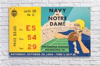 1960_College_Football_Notre Dame vs. Navy_Municipal Stadium_Row One Brand Football Art  Acrylic Print