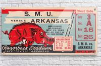 1952 SMU vs. Arkansas  Acrylic Print