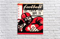 Vintage Football Art_Quarterback Artwork_Vintage Ticket Toss  Acrylic Print