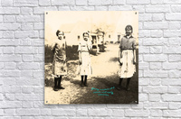Young Workers at a Cotton Mill early 1900s  Acrylic Print