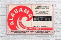 University of Alabama Crimson Tide Football Ticket Stub Art Poster  Acrylic Print